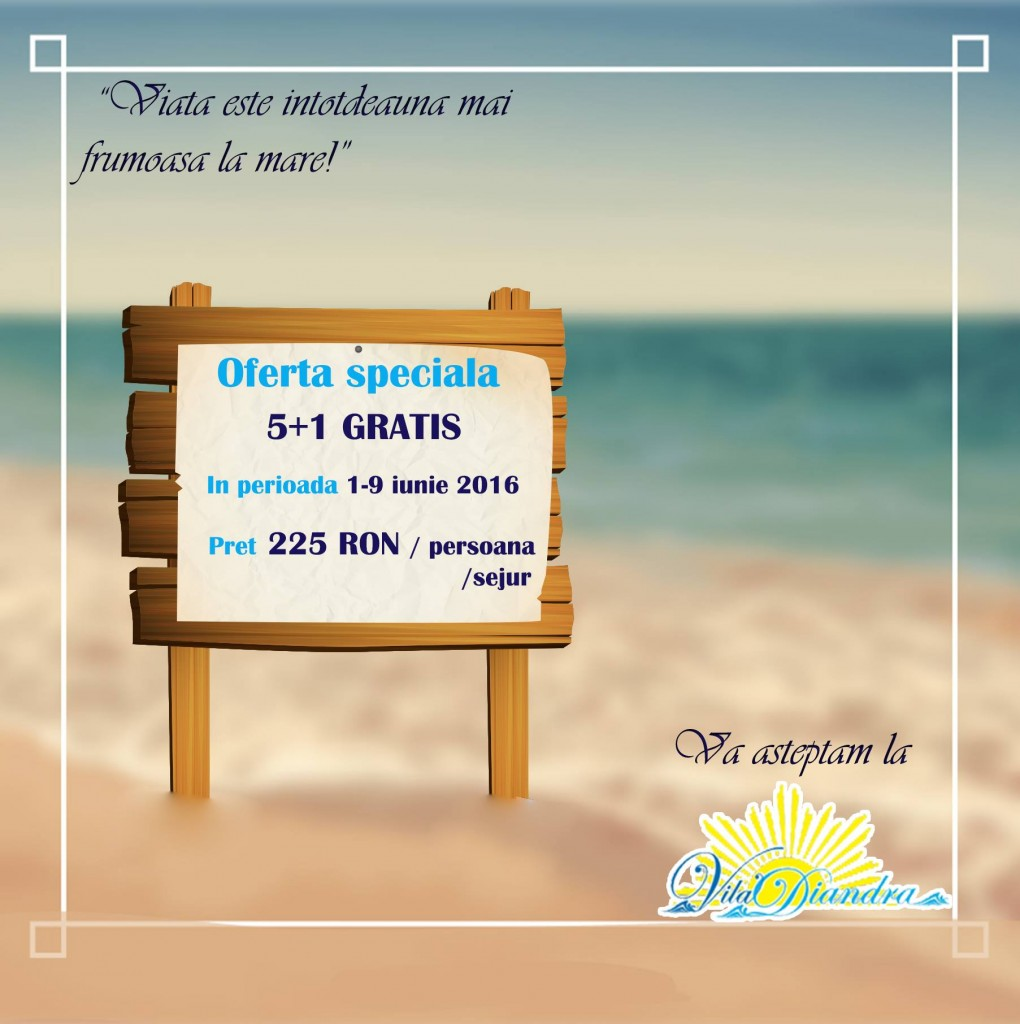 VILA DIANDRA oferta 1-9 iun.2016